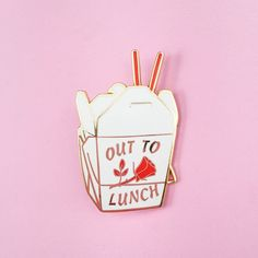 Out To Lunch Lapel Pin