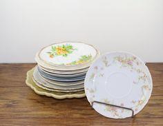 Dessert / Salad /  Saucer Vintage Plate. Mismatched Wedding Plates by DesertBlossomVintage.com