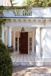 There's an old adage that says you only get one chance to make a first impression. But when it comes to houses, you usually get two chances: both the driveway and entrance foyer are opportunities to set a tone and frame expectations. When Woodbury interior designer Carole Winer-Sorensen first saw the manor house in Litchfield County that her clients were buying, she was impressed by its curb appeal, and she took her decorating cues from the gracious forecourt, the rustic stone walls and the…