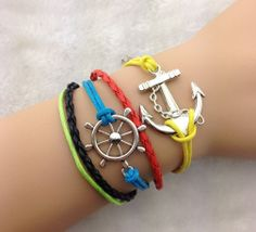 wax cords braceletsbraided braceletcompass by chicfavor on Etsy, $3.99