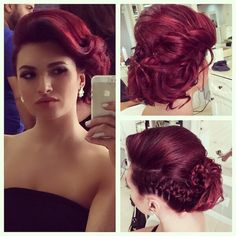 Messy updo by me #artak_hairstylist makeup by @hair_n_makeup_by_silvay
