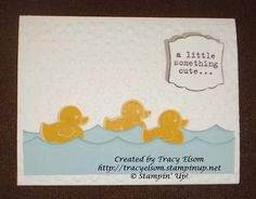 Something for Baby & Baby's First Framelits Bundle - Simple baby card made using new 2014-2015 product from Stampin' Up!