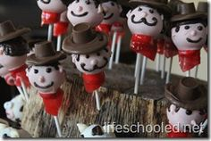 Western Themed cake pops that my sister in law Toni made