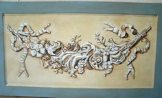 Classical Faux relief painting Original Artwork by MARVINSTUDIO, $89.00 Great for Christmas