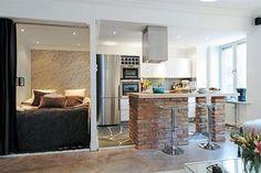 elegant interior swedish small apartment