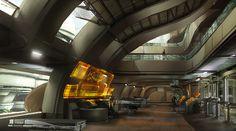 Mass Effect 3. Official Concept Art. Futuristic Interior Design, Future Building