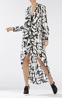 Kailene Printed High-Low Dress