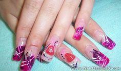 pink acrylic 2 nail design » Nail Designs
