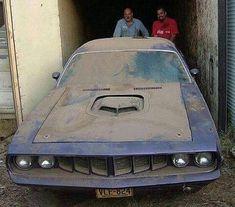 from @muzzy289 -  1971 Plymouth Cuda Barn Find - #regrann