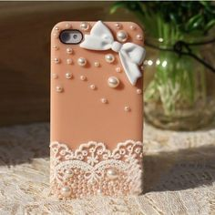 Fashion Pink Elegant Lace Pearls Hard Case Cover Skin For Apple iPhone 4 4S Mobile Phone by OEM, http://www.amazon.co.uk/dp/B00DAU2X34/ref=cm_sw_r_pi_dp_WPdbsb009KNV0