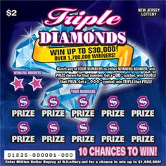 Triple DIAMONDS: More Than $10.9 Million in Prizes Approximately 8,400,000 Triple DIAMONDS tickets are initially planned in this game. Click the image for more details! Lotto Games, Off Game, Snack Recipes, Snacks, Scratch Off, Pop Tarts, Diamonds, How To Plan, Image