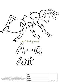26 best Alphabet Letter Coloring Pages images on Pinterest ...