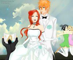 Ichigo x Orihime newly weds - by Dgesika @deviantART