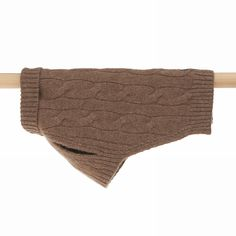 Cable Cashmere Dog Pullover Tobacco 35cm - Mungo & Maud Dog and Cat Outfitters