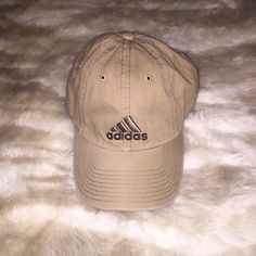 Adidas hat Tan adidas hat, one size fits all. Nothing is wrong with it! Adidas Accessories Hats