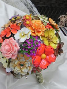 Brooch Bouquet that's Unforgettable for 2012 by foreverbouquet, $575.00