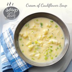 Cream of Cauliflower Soup Recipe from Taste of Home -- shared by Karen Brown of West Lafayette, Ohio