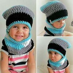 Baby Girl Crochet, Crochet Baby Hats, Crochet Beanie, Free Crochet, Knit Crochet, Baby Hats Knitting, Baby Knitting Patterns, Crochet Patterns, Diy Lace Sleeves