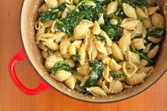 Spinach Ricotta Shells. Easy. Vegetarian. Delicious.