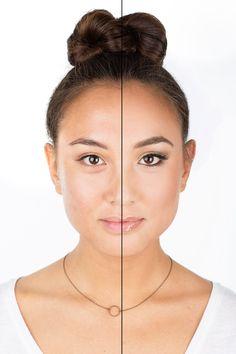 12 Stunning Photos of Women Without Makeup Half Face Makeup, Skin Makeup, Beauty Makeup, Day Makeup Looks, Bridal Makeup Looks, Makeup Before And After, Power Of Makeup, Wedding Day Makeup, Indian Bridal Hairstyles