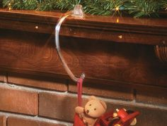 #HolidayTip try Stocking Hooks, easily hang Christmas stockings without damage to your mantle!
