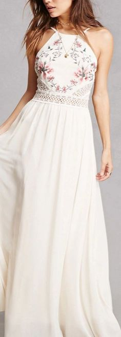 Soieblu Embroidered Maxi Dress If you want to see more,follow me: Pinterest:Style Life