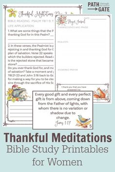 Thankful Meditations - Path Through the Narrow Gate