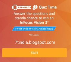 Answers for 'Amazon Infocus Vision 3 Quiz' on 18th December 2017