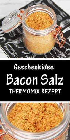 Make bacon salt in the Thermomix yourself. Great gift idea for men and women - Thermomix-Rezepte - This great spice is quickly made and a great souvenir for men and women. Authentic Mexican Recipes, Mexican Dinner Recipes, Italian Pastries, Italian Desserts, Italian Recipes, Italian Foods, Barbacoa, Italian Chef, Hispanic Kitchen