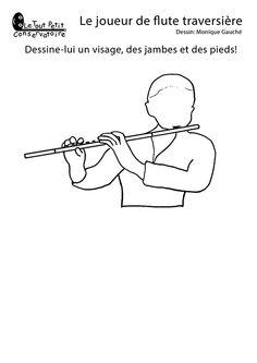 L 39 orchestre symphonique colorier dessins coloriages d - Dessin de flute ...