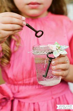 bubbles in mason jars