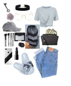 """""""Grey hair"""" by angelica1perez ❤ liked on Polyvore featuring beauty, T By Alexander Wang, Levi's, Ray-Ban, Jayson Home, MICHAEL Michael Kors, NARS Cosmetics, Torrid, NYX and hairtrend"""