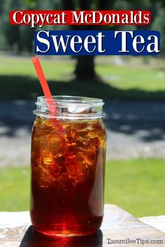 Mcdonald's Sweet Tea Recipe, Sweet Tea Recipes, Iced Tea Recipes, Drink Recipes, Best Iced Tea Recipe, Fruit Drinks, Smoothie Drinks, Yummy Drinks, Beverages