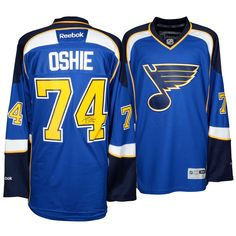 T.J. Oshie St. Louis Blues Fanatics Authentic Autographed Reebok Premier  Home Jersey bd37a17d0