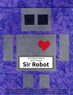 Robot quilt block!