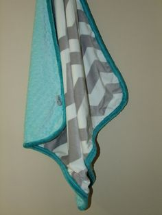 NEW Chevron MINKY Blanket- Custom for YOU- Ships in 1-3 Business Days on Etsy, $36.00