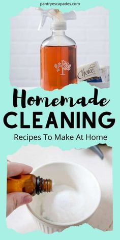 % Don't want to store bought chemical cleaners in your home? Opt for a more natural clean with these homemade cleaning recipes! Household Cleaning Tips, Deep Cleaning Tips, Cleaning Recipes, Natural Cleaning Products, Cleaning Hacks, Cleaning Supplies, Homemade Disinfecting Wipes, Homemade Febreze, Cleaners Homemade