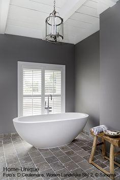 Binnenhuisarchitectuur grachtenpand landelijk wonen bathroom