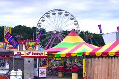 A snapshot of the Prince William County Fair, Manassas, VA ~ Rides, Games, Baking Contests, Livestock Shows, Live Music & Demolition Derby.