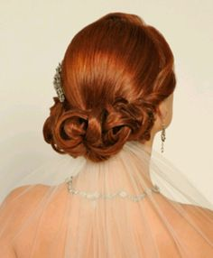 Looped Bun! Ten loves this look for a wedding updo!
