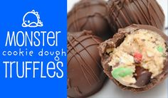 Monster Cookie Dough Truffles
