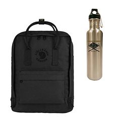 FjallRaven ReKanken Backpack  16L  Black w 27 oz SS Bottle ** Read more reviews of the product by visiting the link on the image.Note:It is affiliate link to Amazon.