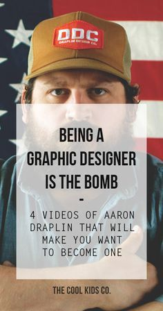 Aaron Draplin is the founder of Draplin Design Co. and co-founder of Field Notes. He's very passionate about what he does and has a very authentic and meaningful approach to Design. http://thecoolkidsco.com/aaron-james-draplin-graphic-design-honest-living/ #graphicdesign, #aarondraplin #creativity #creativejobs #design