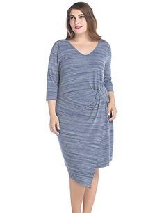 Chicwe Womens Plus Size V Neck Marina Twist Dress 16 Blue Melange >>> Visit the image link more details. Maternity Swimwear, Maternity Wear, Dress Brands, Plus Size Dresses, Fashion Brands, Your Style, Cold Shoulder Dress, Swimsuits