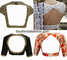 cut out back neck blouse designs