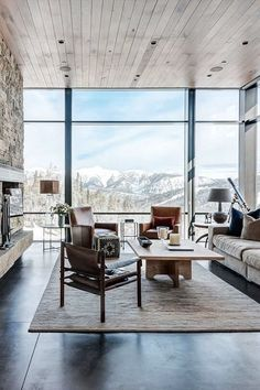 Living room ideas: Luxury living rooms that will make you fall in love in a second due to its unique luxury decor Living Room Designs, Living Room Decor, Living Spaces, Living Rooms, Interior Architecture, Interior And Exterior, Interior Design, Salas Home Theater, Modern House Design