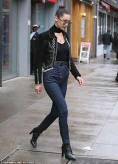 These boots were made for walking! The 20-year-old stepped out in a sexy pair of ankle boots