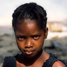 Malagasy girl in the island of Madagascar