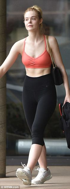 Great shape: The young actress has long been a proponent of fitness, as she's been snapped frequenting the gym many times over the past few years