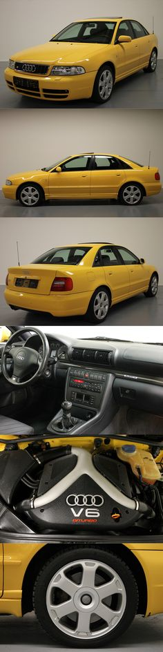 1998 Audi S4 / Germany / yellow / 265 hp
